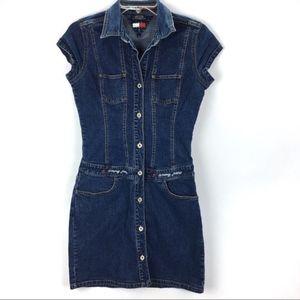 Vintage Tommy Hilfiger Denim Jean Dress Medium